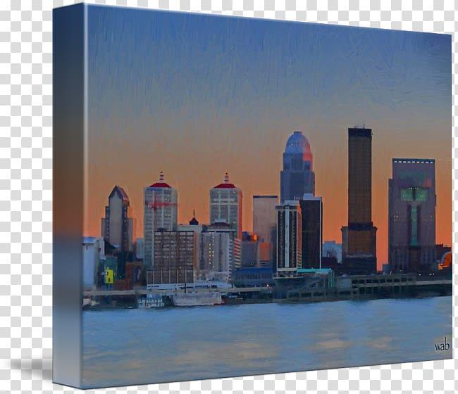 Downtown Louisville Skyline Drive Canvas print, cityscape.