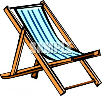 Camping Lounge Chair Clipart.
