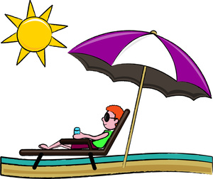 Clip Art Beach Umbrella And Chair Clipart.