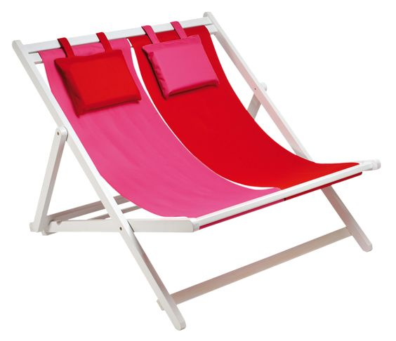Transparent Beach Double Lounge Chair Clipart.