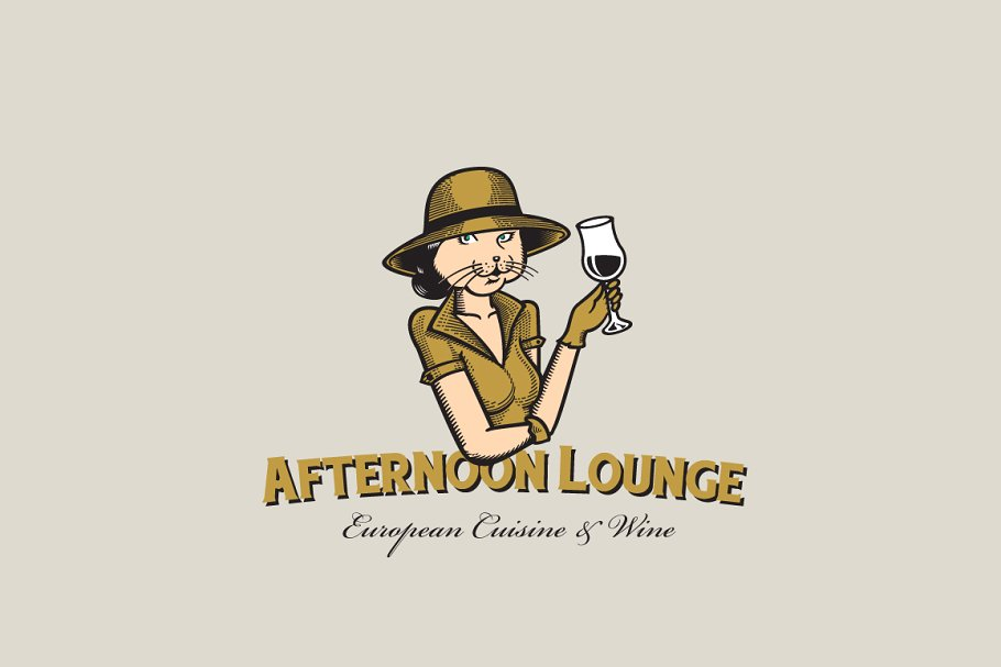 Afternoon Lounge Logo Template ~ Logo Templates ~ Creative.