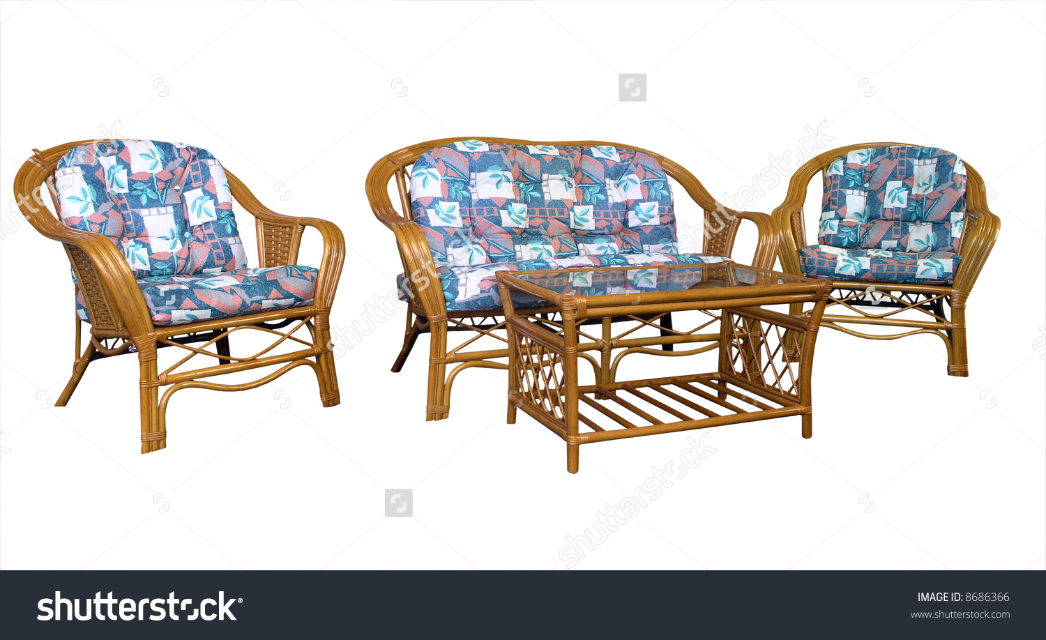 Cane Lounge Suite Stock Photo 8686366.