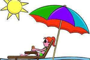 Lounging on the beach clipart 2 » Clipart Portal.