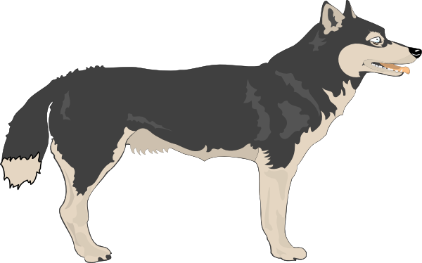 Loup clipart #15