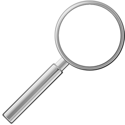 Slim Loupe Icon, PNG ClipArt Image.