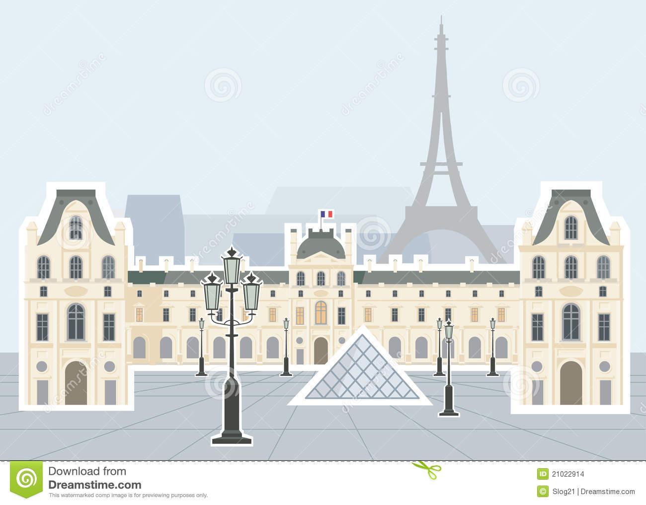 Louvre museum clipart.