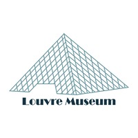 Musee du louvre Vector Image.