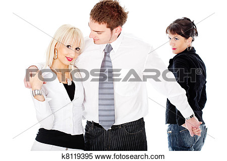 Woman man affair clipart.