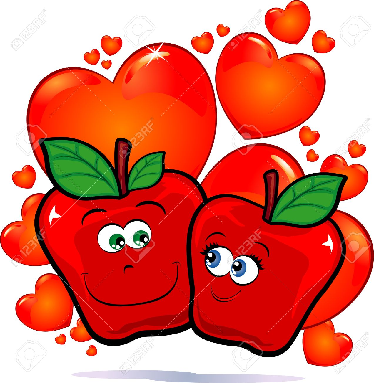 Love apple clipart - Clipground