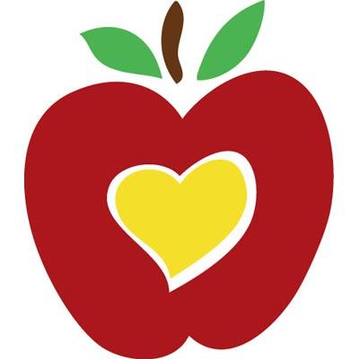 love apple clipart.