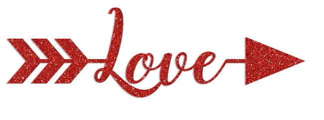 Valentine\'s Day Love Glitter Clipart.