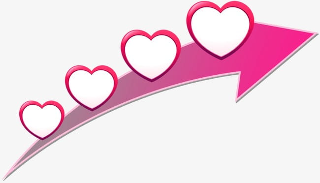 Love arrow PNG clipart.