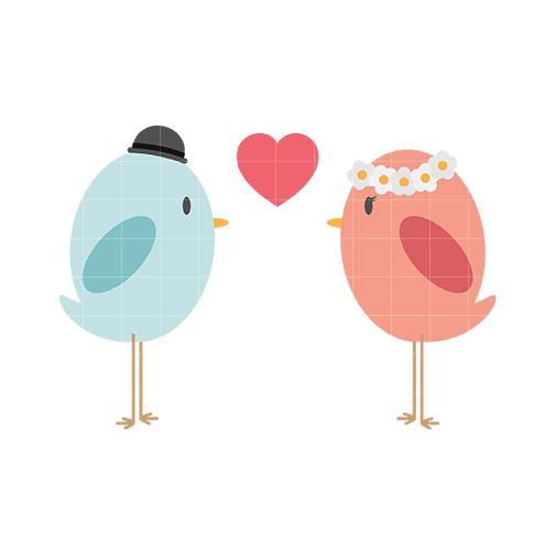 Cute Love Birds Clipart.