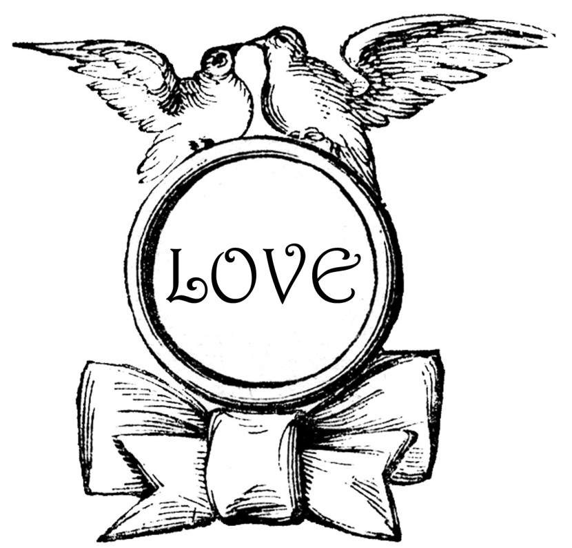 Love Bird Clipart Black And White Clipground