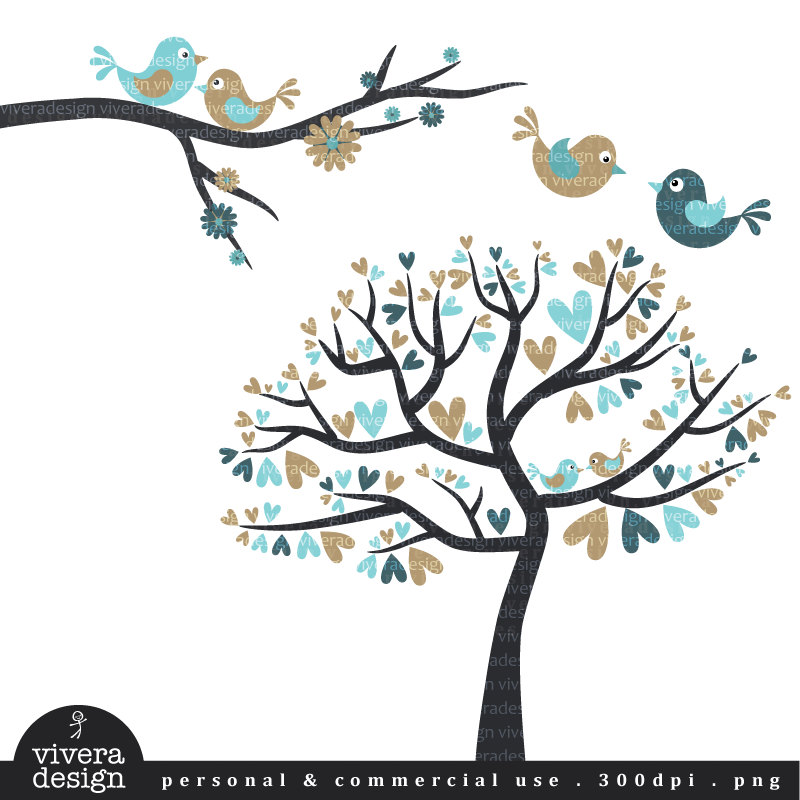 Love birds in tree clipart 10 » Clipart Station.