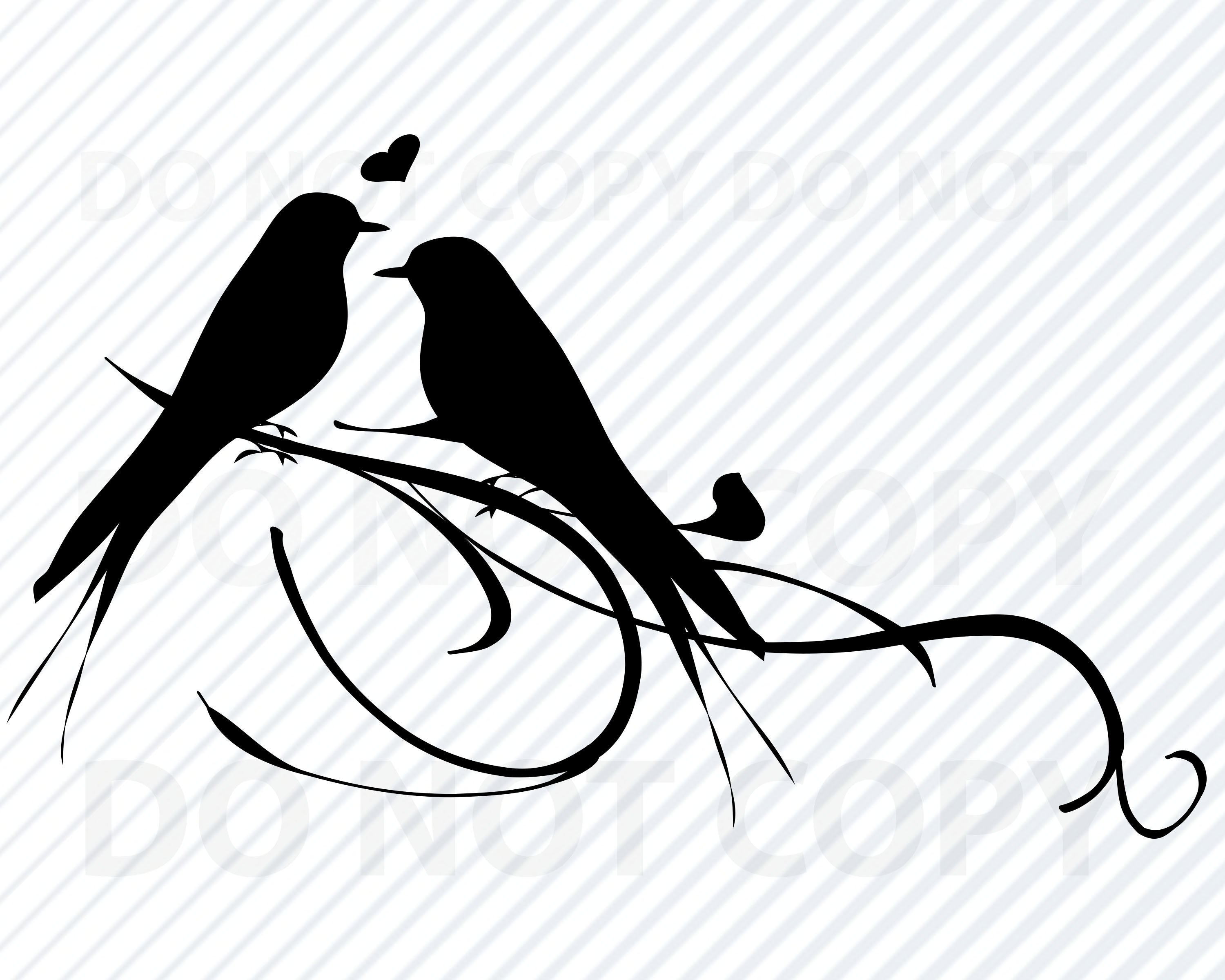 Lovebirds SVG Files.