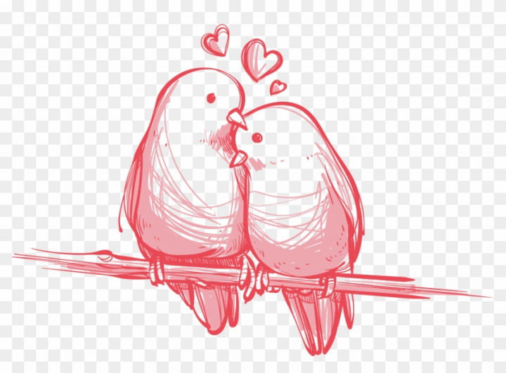 Bird Valentine's Day Wedding Gift Wallpaper.