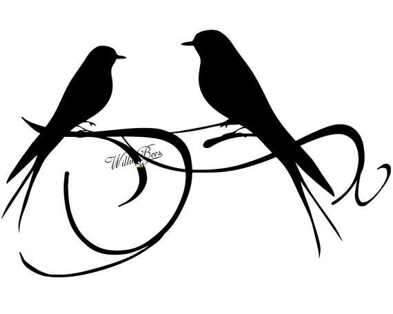 Love Bird SVG, Bird Clipart, Love Bird Silhouette, Love Birds, Love Birds  Wall Art, Bird feathers, Marriage Gift, Wedding, Instant Download.