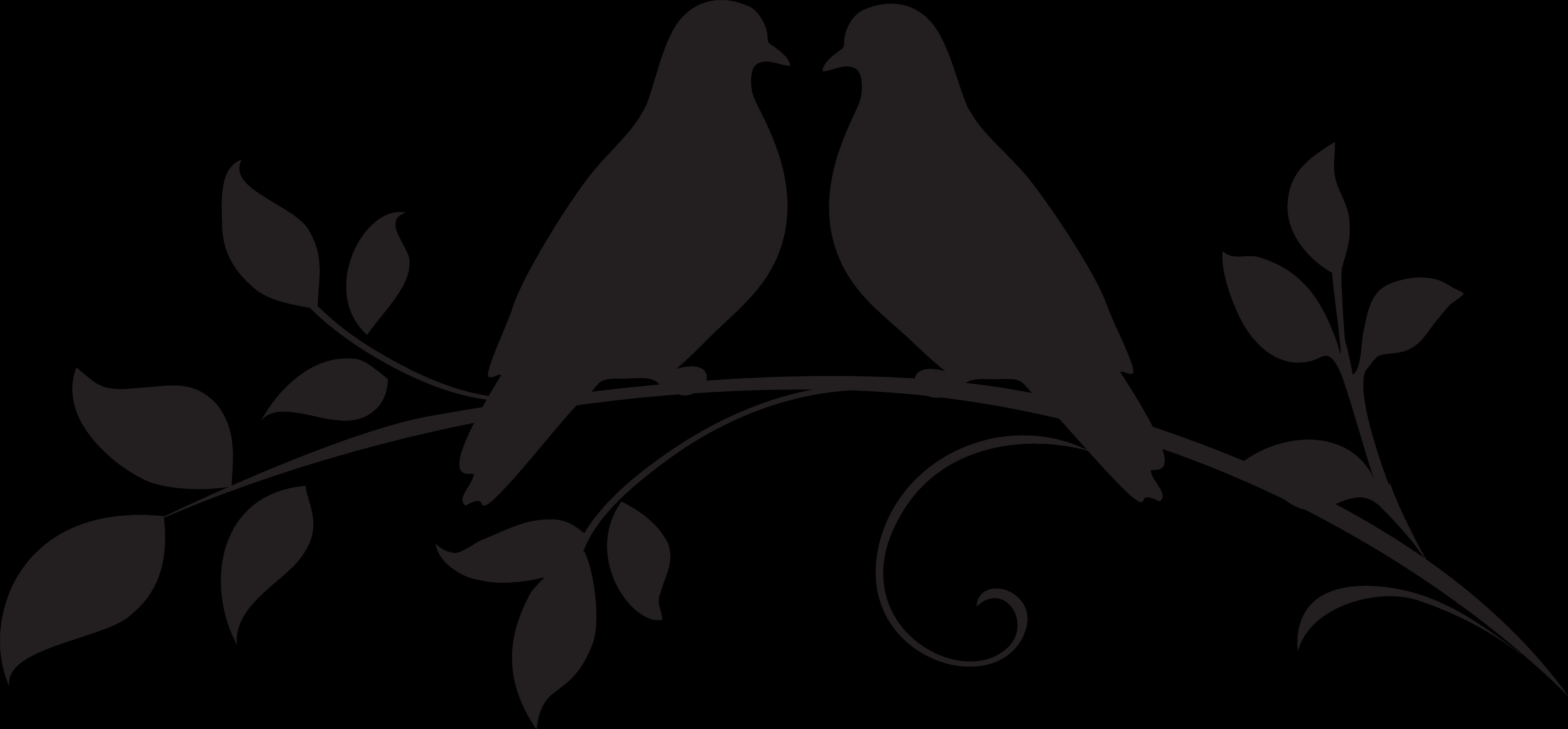 Dove Clipart Silhouette Love Birds Silhouette Png.