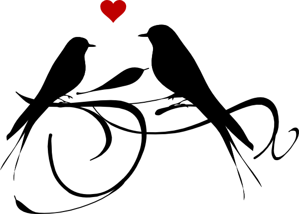 Cute Love Birds Clipart.