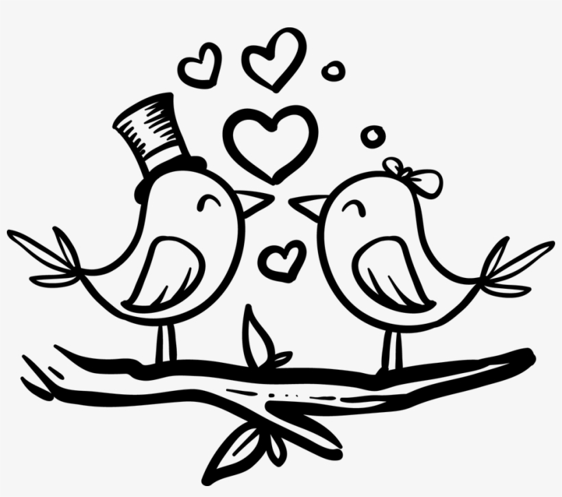 Love Birds Clipart Bride Groom.