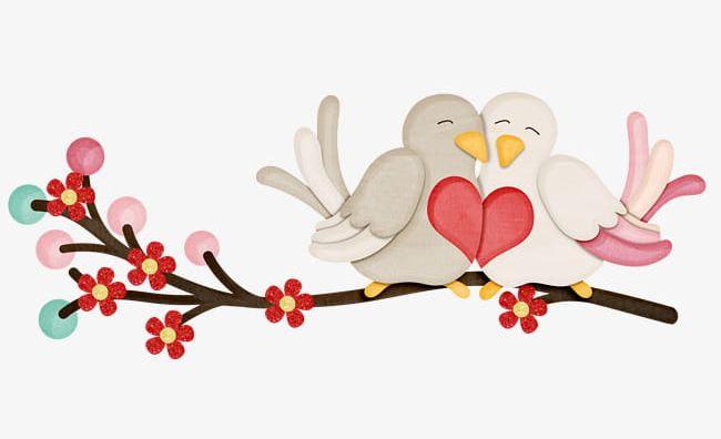 Cute Love Birds PNG, Clipart, Bird, Birds, Birds Clipart.