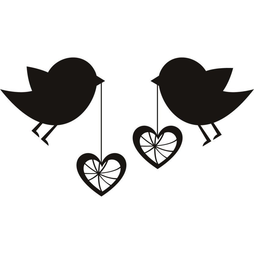 Wedding love birds clipart black and white » Clipart Station.