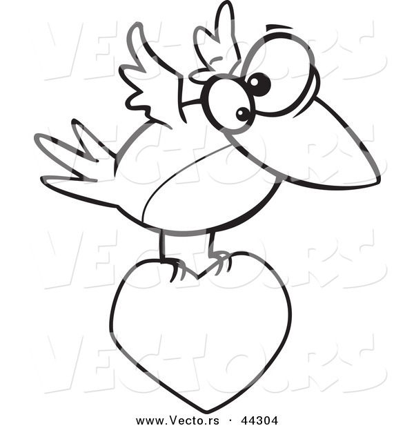 Love Birds Flying Clipart Outline Clipground