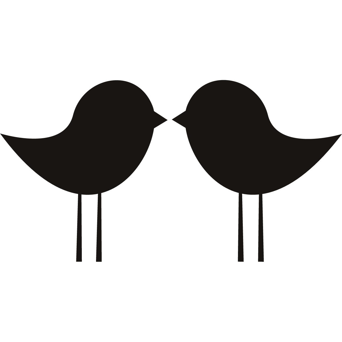 Love Birds Kissing Silhouette.