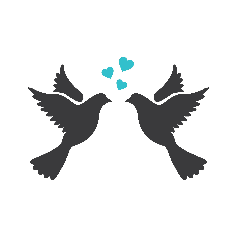 Lovebird Silhouette Drawing Clip art.