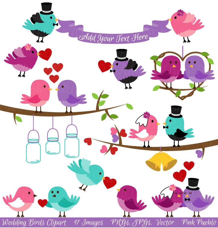 Wedding Birds Clipart Clip Art, Valentine Love Birds Lovebirds.