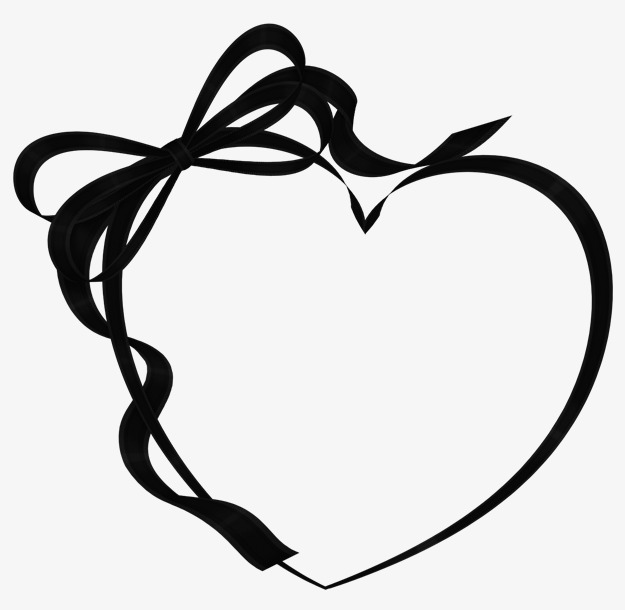 love black and white clipart #9