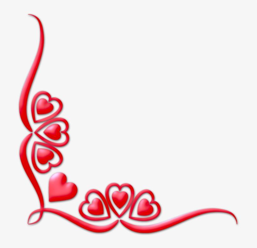 Watercolor Love Corners Valentine Clipart Corner Png.