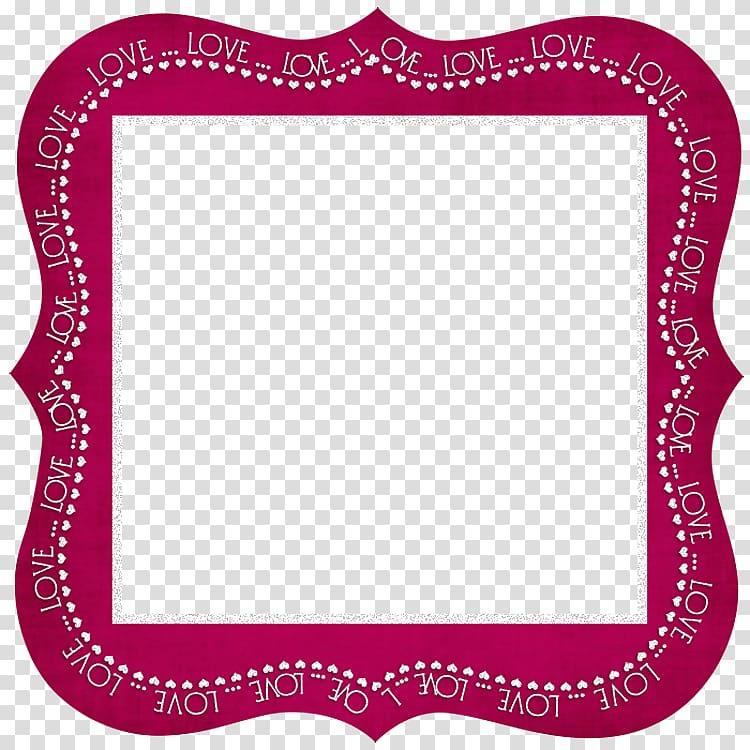 Pink Love border illustration, , Love Dark Pink Frame.