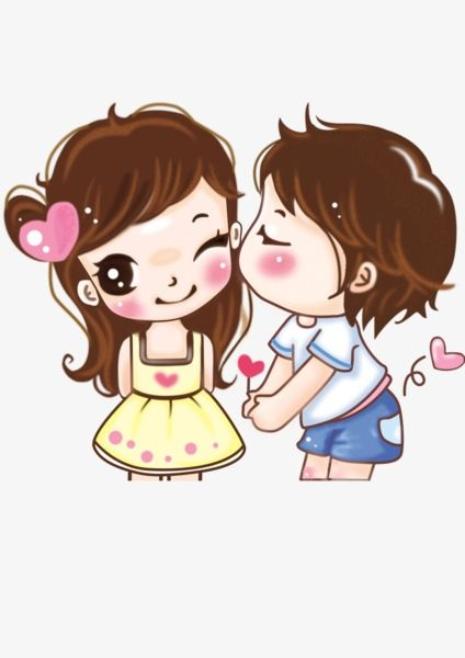 Lovely Couple, Cartoon, Ly, Girl PNG Transparent Image and.