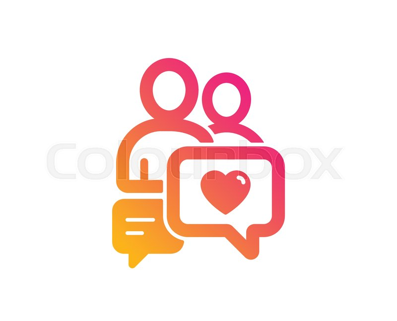 Couple communication icon. Love chat.