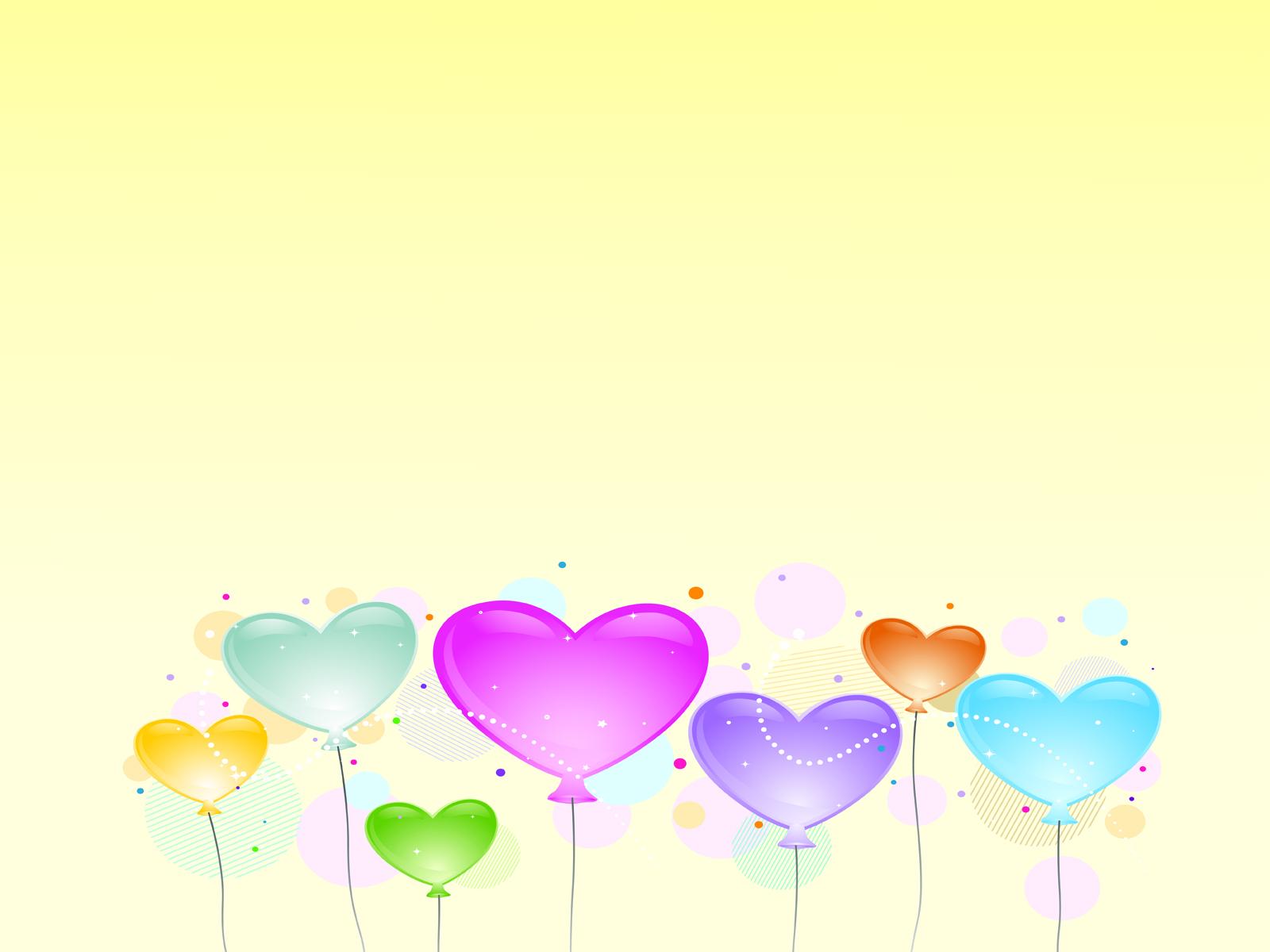 Clip art Love Balloons Backgrounds.