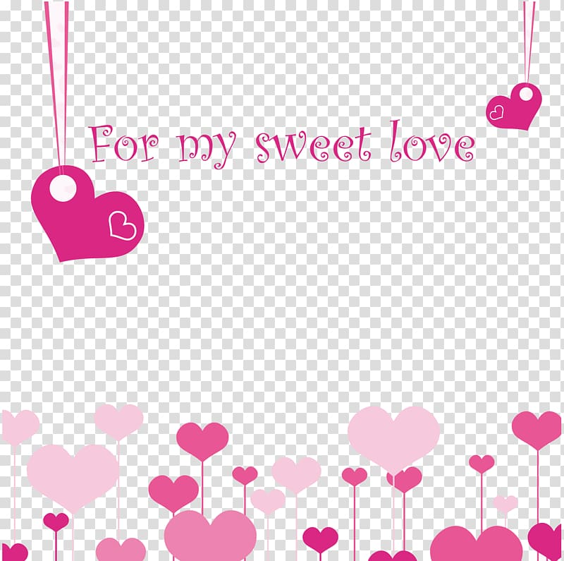 Pink for my sweet love hear border, Love wedding background.