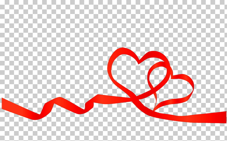Red ribbon Heart , love background PNG clipart.
