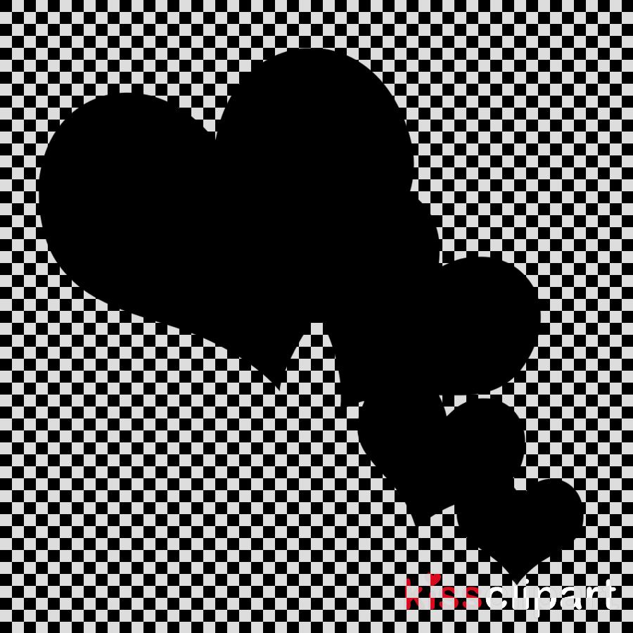 black heart text black.
