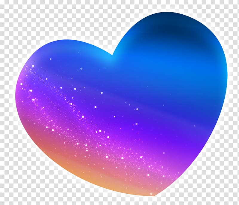 Blue Icon, Blue fresh love star effect elements transparent.