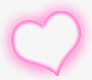 Pink light effect love PNG clipart.