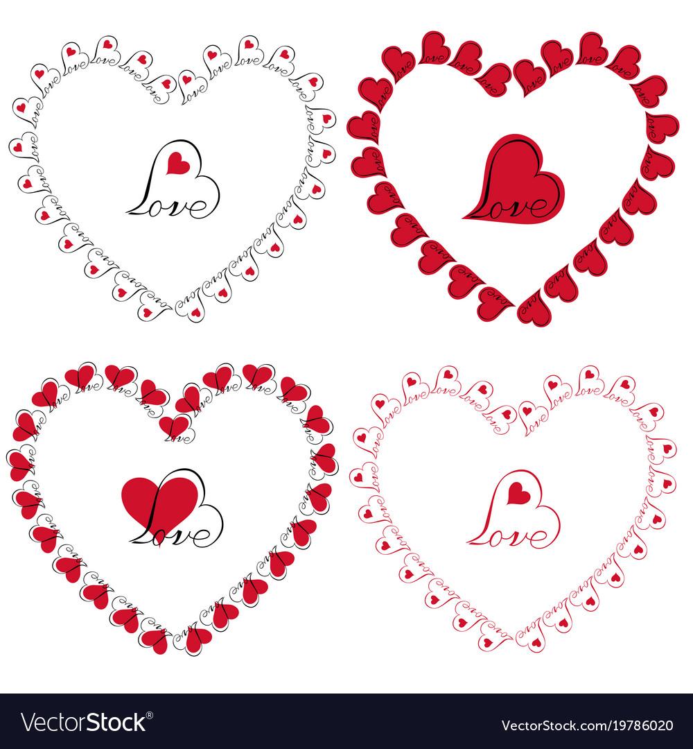 Love heart frames clipart.