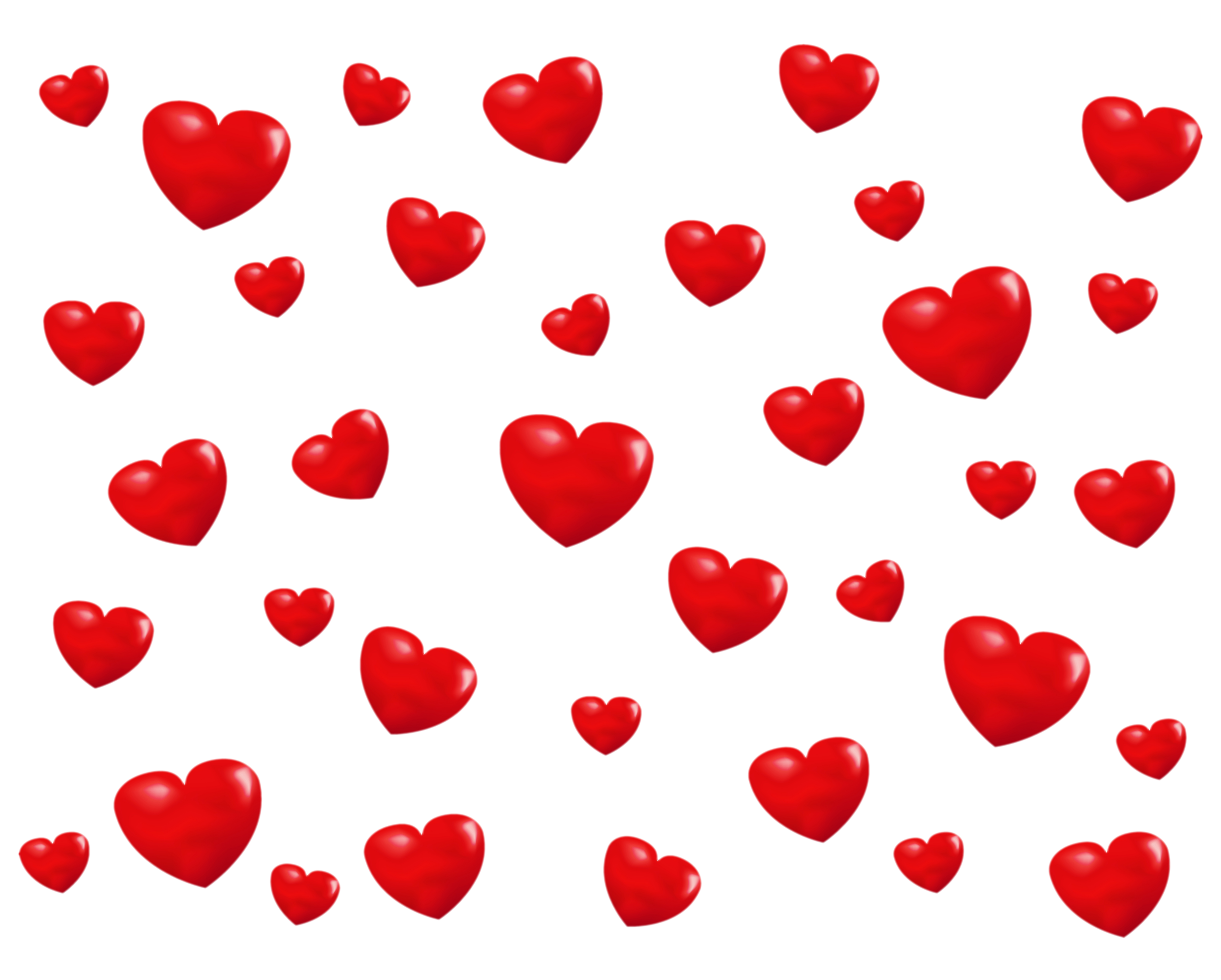 Transparent PNG Background with Hearts.