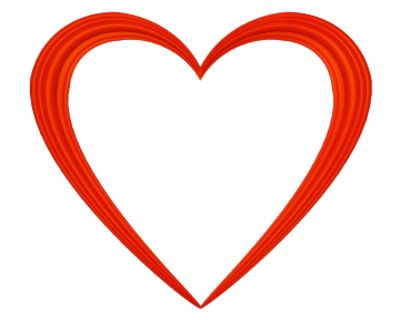 Vector and Heart Clip Transparent Background Red Heart Borders.