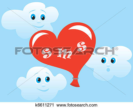 Clipart of Love sms k6611271.