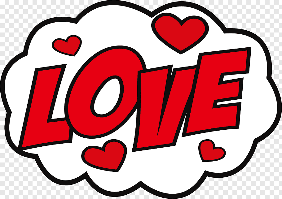 Love, Sticker Love hike Messenger Decal, Big red love.