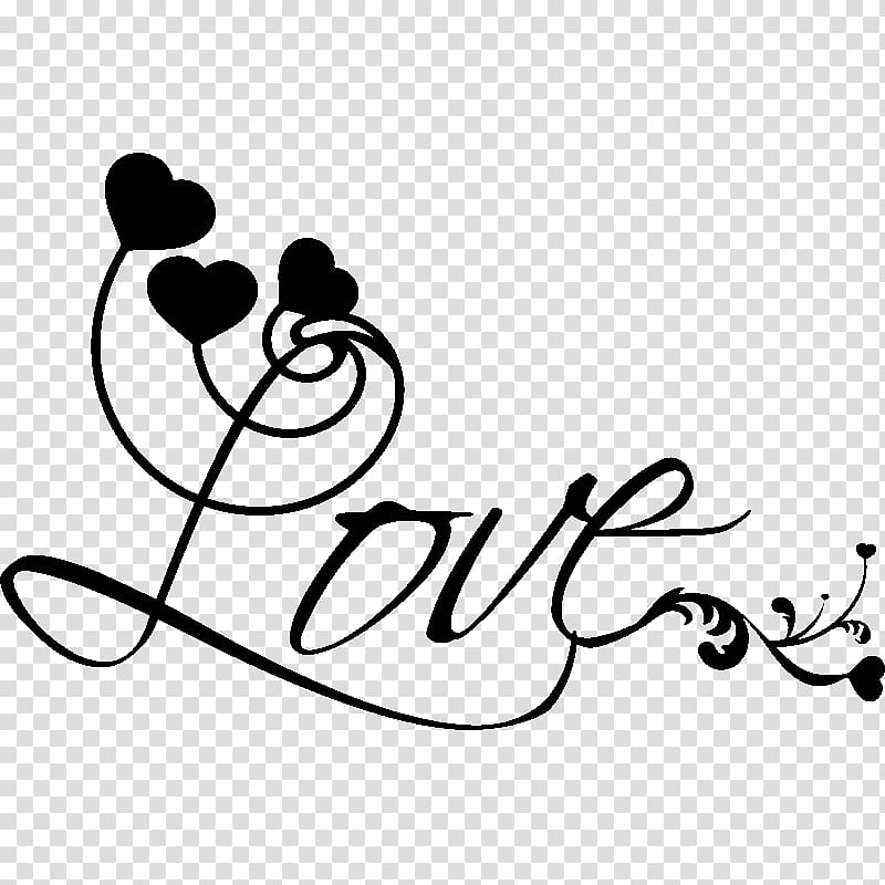 Wall decal Love Word Marriage Sticker, Love stickers.