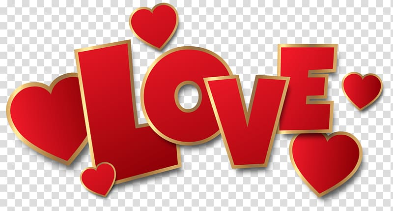 Love Heart , Red Love , Love text overlay transparent.