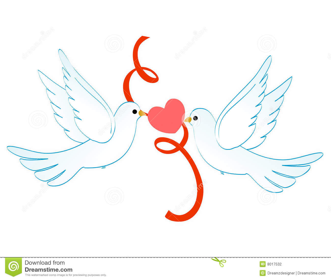 Love Doves Clipart.